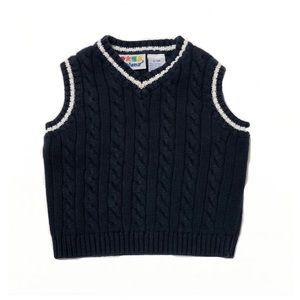 MiniWear Dark Blue Vest Boy 6/9mo